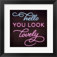 Framed Neon Hello