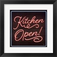 Framed Neon Kitchen Open