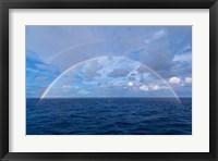 Framed Double rainbow over the Atlantic Ocean