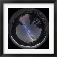Framed Milky Way at Cameron Lake, Alberta, Canada