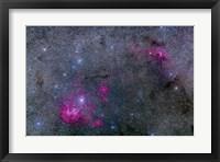 Framed Pearl Cluster and Lambda Centauri complex in Centaurus