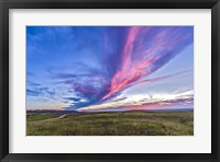 Framed Colorful sunset at the Reesor Ranch on the Alberta-Saskatchewan border