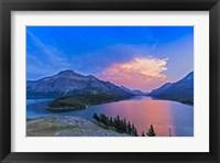 Framed Sunset at Waterton Lakes National Park, Alberta, Canada