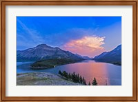 Framed Sunset at Waterton Lakes National Park, Alberta, Canada