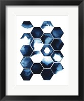 Stormy Geometry I Framed Print