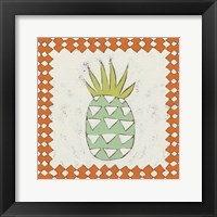 Pineapple Vacation I Framed Print