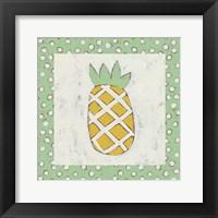 Pineapple Vacation II Framed Print