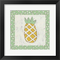 Pineapple Vacation II Framed Print
