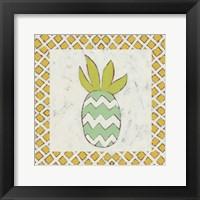 Pineapple Vacation III Framed Print