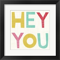 Hi You II Framed Print