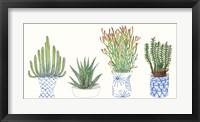 Framed Four Succulents I