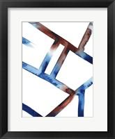 Blue & Red Chutes I Framed Print