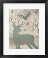 Framed Deer Solace II