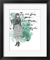 Fashion Quotes I Framed Print