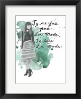Fashion Quotes I Framed Print