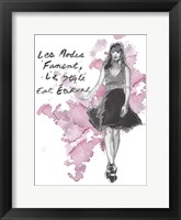Fashion Quotes II Framed Print