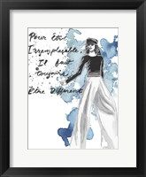 Fashion Quotes IV Framed Print