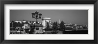 Framed Chain Bridge over Danube River, Budapest, Hungary
