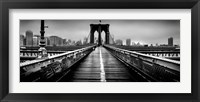 Framed Fog over the Brooklyn Bridge, Brooklyn, Manhattan, NY