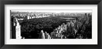 Framed High angle view of buildings in a city, Central Park, Manhattan, NY