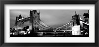 Framed Tower Bridge, London, United Kingdom (black & white)