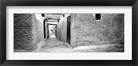 Framed Medina Old Town, Marrakech, Morocco (black & white)