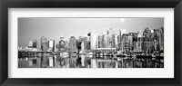 Framed Vancouver, British Columbia, Canada (black & white)