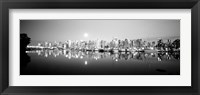 Framed Vancouver Skyline, British Columbia, Canada BW