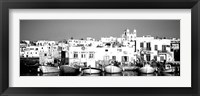 Framed Boats at the waterfront, Paros, Greece