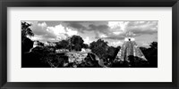 Framed Ruins Of An Old Temple, Tikal, Guatemala BW