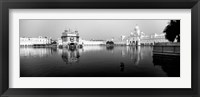 Framed Temple at the waterfront, Golden Temple, Amritsar, Punjab, India