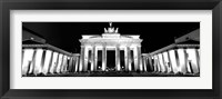 Framed Brandenburg Gate at night, Berlin, Germany