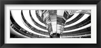 Framed Interiors of a government building, The Reichstag, Berlin, Germany BW