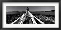 Framed Marshall Point Lighthouse, built 1832, rebuilt 1858, Port Clyde, Maine