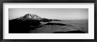 Framed Sea of clouds with mountains in the background, Mt Rainier, Washington State