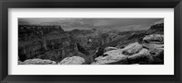 Framed Toroweap Overlook, North Rim, Grand Canyon National Park, Arizona