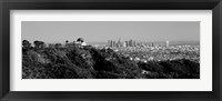 Framed Griffith Park Observatory, Los Angeles, California BW