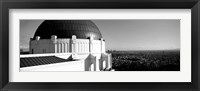 Framed Observatory with cityscape in the background, Griffith Park Observatory, LA, California
