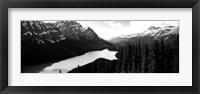 Framed Mountain range at the lakeside, Banff National Park, Alberta, Canada