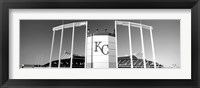 Framed Baseball stadium, Kauffman Stadium, Kansas City, Missouri