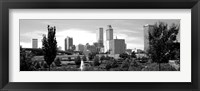 Framed Downtown skyline from Centennial Park, Tulsa, Oklahoma