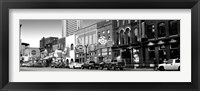 Framed Street scene at dusk, Nashville, Tennessee