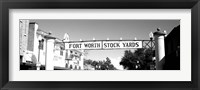Framed Signboard over a street, Fort Worth Stockyards, Fort Worth, Texas