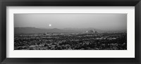 Framed Buildings in a city, Hollywood, San Gabriel Mountains, City Of Los Angeles, California