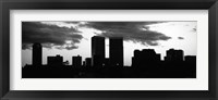 Framed Silhouette of skyscrapers in a city, Century City, City Of Los Angeles, California