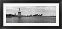 Framed Statue Of Liberty with Manhattan skyline in the background, Ellis Island