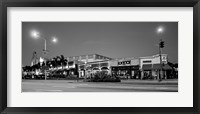 Framed Night scene of Downtown Culver City, Culver City, Los Angeles County, California