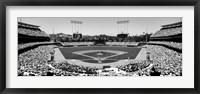 Framed Dodgers vs. Angels, Dodger Stadium, City of Los Angeles, California