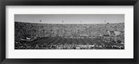 Framed Football stadium full of spectators, Los Angeles Memorial Coliseum, California