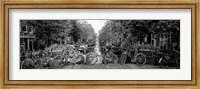 Framed Bikes in Amsterdam, Netherlands (black & white)